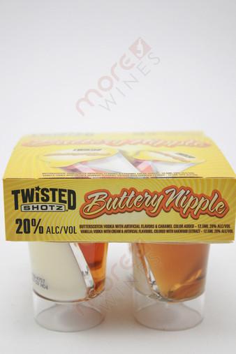 Twisted Shotz Buttery Nipple Butterscotch and Vanilla Liqueur 4 x 25ml