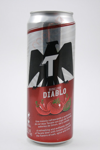 Tecate Michelada Diablo Beer 24fl oz
