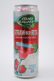 Bud Light Lime Straw-Ber-Rita Strawberry Margarita Malt Beverage 24fl oz