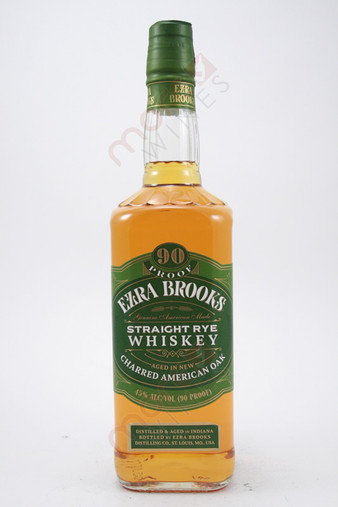 Ezra Brooks Straight Rye Whiskey 750ml