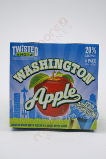 Twisted Shotz Washington Apple Shot Liqueur 4 x 25ml