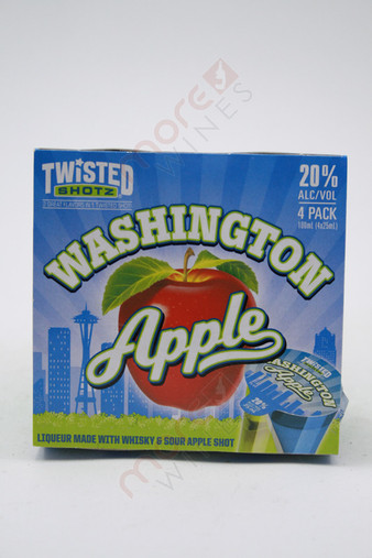 Twisted Shotz Washington Apple Shot Liqueur 4 x 25ml