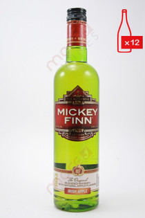 Mickey Finn Apple Whiskey Liqueur 750ml  (Case of 12) FREE SHIPPING $9.99/Bottle