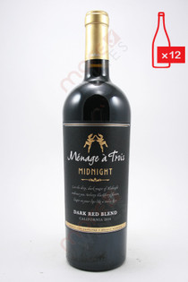 Menage a Trois Midnight Dark Red Blend 750ml (Case of 12) FREE SHIPPING $11.99/Bottle