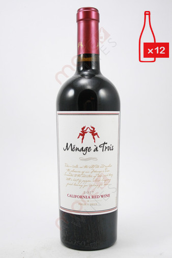Menage A Trois California Red Wine 750ml (Case of 12) FREE SHIPPING $11.99/Bottle
