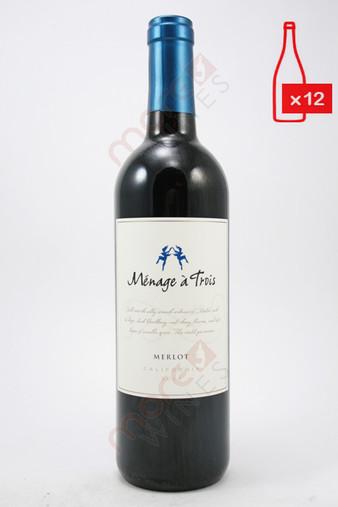 Menage a Trois Merlot 750ml (Case of 12) FREE SHIPPING $11.99/Bottle