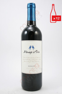 Menage a Trois Merlot 750ml (Case of 12) FREE SHIPPING $11.99/Bottle