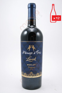 Menage a Trois Lavish Merlot 750ml (Case of 12) FREE SHIPPING $11.99/Bottle