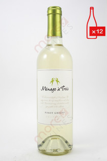 Menage a Trois Pinot Grigio 750ml (Case of 12) FREE SHIPPING $11.99/Bottle