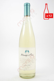 Menage a Trois Moscato 750ml (Case of 12) FREE SHIPPING $11.99/Bottle