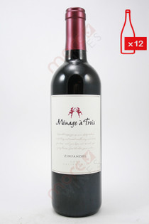 Menage a Trois Zinfandel 750ml (Case of 12) FREE SHIPPING $11.99/Bottle