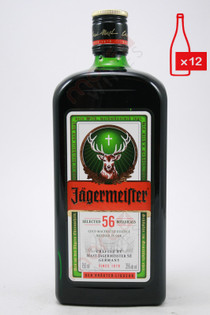 Jagermeister Liqueur 750ml (Case of 12) FREE SHIPPING $19.99/Bottle