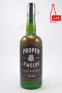 Proper Twelve Irish Whiskey 750ml (Case of 12) FREE SHIPPING $25.99/Bottle