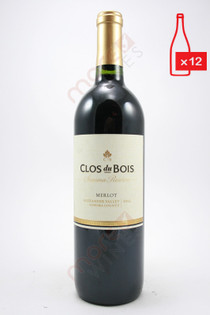 Clos du Bois Sonoma Reserve Merlot 750ml (Case of 12) FREE SHIPPING $11.99/Bottle
