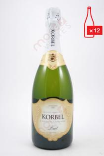 Korbel California Brut Champagne 750ml (Case of 12) FREE SHIPPING $12.99/Bottle