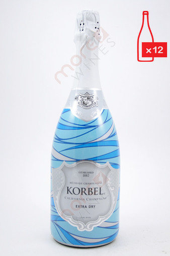 Korbel California Extra Dry Champagne 750ml (Case of 12) FREE SHIPPING $12.99/Bottle