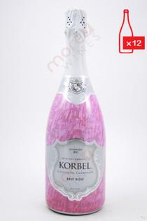 Korbel California Brut Rose Champagne 750ml (Case of 12) FREE SHIPPING $12.99/Bottle