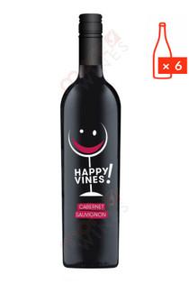 Happy Vines! Cabernet Sauvignon 750ml (Case of 6) FREE SHIPPING $9.99Bottle