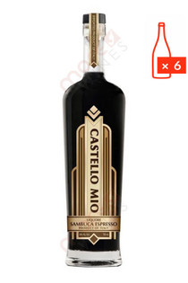 Castello Mio Italy Sambuca Espresso Liqueur 750ml (Case of 6) FREE SHIPPING $13.99/Bottle