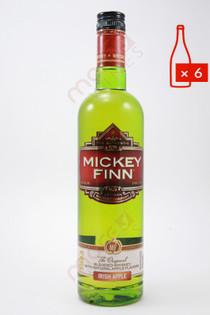 Mickey Finn Apple Whiskey Liqueur 750ml (Case of 6) FREE SHIPPING $9.99/Bottle