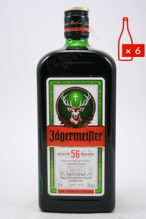Jagermeister Liqueur 750ml (Case of 6) FREE SHIPPING $19.99/Bottle