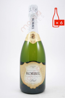 Korbel California Brut Champagne 750ml (Case of 6) FREE SHIPPING $12.99Bottle