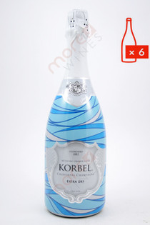 Korbel California Extra Dry Champagne 750ml (Case of 6) FREE SHIPPING $12.99/Bottle