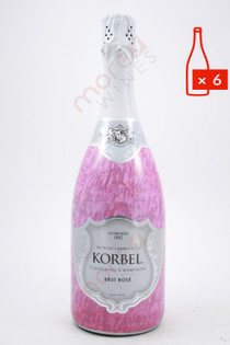 Korbel California Brut Rose Champagne 750ml (Case of 6) FREE SHIPPING $12.99/Bottle