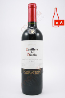 Casillero del Diablo Reserva Cabernet Sauvignon 750ml (Case of 6) FREE SHIPPING $9.99Bottle