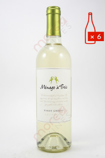 Menage a Trois Pinot Grigio 750ml (Case of 6) FREE SHIPPING $11.99/Bottle