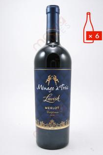 Menage a Trois Lavish Merlot 750ml (Case of 6) FREE SHIPPING $11.99/Bottle