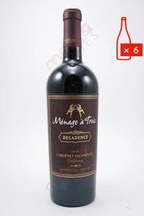Menage a Trois Decadence Cabernet Sauvignon 750ml (Case of 6) FREE SHIPPING $11.99/Bottle