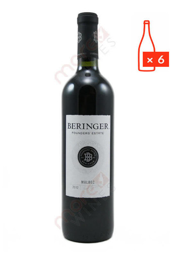 Beringer Founders' Estate Malbec 2012 750ml (Case of 6) FREE SHIPPING 8.99/Bottle *Closeout*
