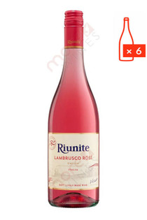 Riunite Lambrusco Rose 750ml (Case of 6) FREE SHIPPING $8.99/Bottle