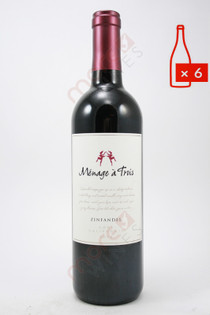 Menage a Trois Zinfandel 750ml (Case of 6) FREE SHIPPING $11.99/Bottle