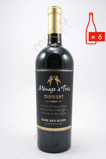 Menage a Trois Midnight Dark Red Blend 750ml (Case of 6) FREE SHIPPING $11.99/Bottle
