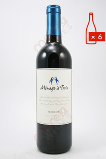Menage a Trois Merlot 750ml (Case of 6) FREE SHIPPING $11.99/Bottle