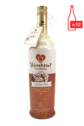Wineheart Cinnamon Bun 750ml (Case of 12) FREE SHIPPING $8.99/Bottle