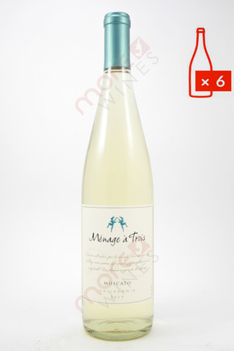 Menage a Trois Moscato 750ml (Case of 6) FREE SHIPPING $11.99/Bottle (101929-FS6)