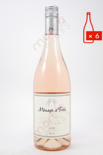 Menage a Trois Rose Wine 750ml (Case of 6) FREE SHIPPING $11.99/Bottle (101602-FS6)