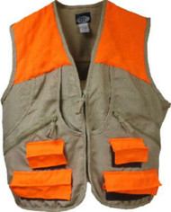 WFS Upland Hunting Game Vest Tan/Orange (Large)