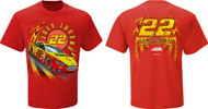 NASCAR Joey Logano #22 Shell Speedbolt T-Shirt (Large)