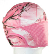 Ladies Pink Camo Performance Fleece Beanie Hat with Pony Tail Slot in Back (S/M)