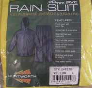 Yellow Huntworth Mens 15mm PVC Rain Suit (Large) (Medium)