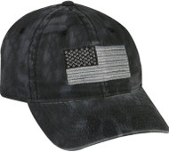 Black Kryptek Hat USA Flag [Apparel]