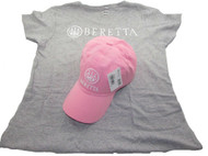 Beretta Women's Roll Up Hat and T-Shirt Combo, Pink, Medium [Apparel]