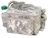 Digital Camoflage 6 Pack Cooler with Bottle holder and zipper pocket
