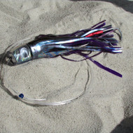 Katana Skirted Trolling Lures (purple/black/abalone, Mid)