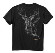 Buckwear Smoke-Deer Short Sleeve Tee, Black, Medium [Apparel]