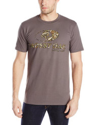 Mossy Oak Men's Front Logo Short Sleeve T-Shirt, Charcoal, Large [Apparel]